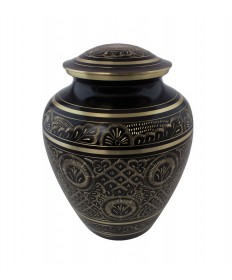 "Memorial Urn - Black Brass 9""H"