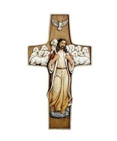 "10"" Calvary Good Shepherd Cross"