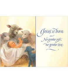"Christmas Cards ""Baby Jesus in Manger """