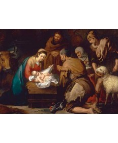 "Christmas Cards ""Adoration of the Shepherds by Murillo"""
