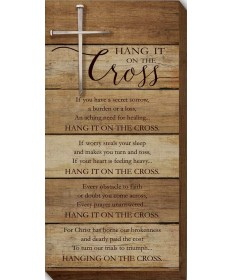 Hang It on the Cross Wood Plaque