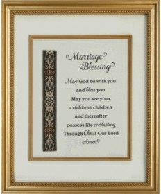 Marriage Blessing Framed Picture