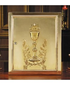 Tabernacle in Brass with Chalice and Host Design