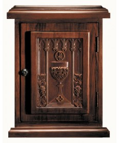 Tabernacle in Wood with Chalice Walnut Stain